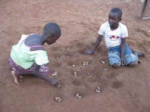 children play.mancala